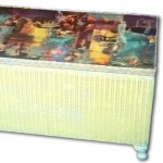 Decoupage Wicker Chest