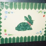 Hand-Painted Canvas Floor Mat - Topiary Garden Theme
